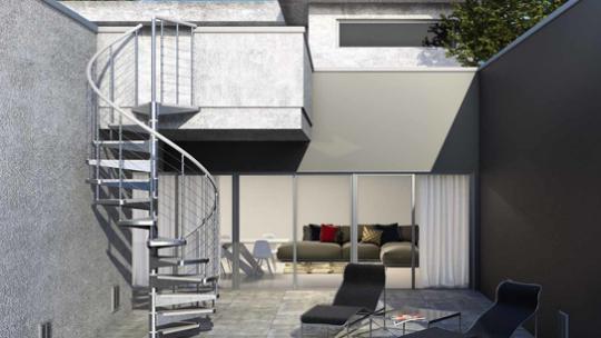 Zoom sur l'installation d'un escalier extérieur